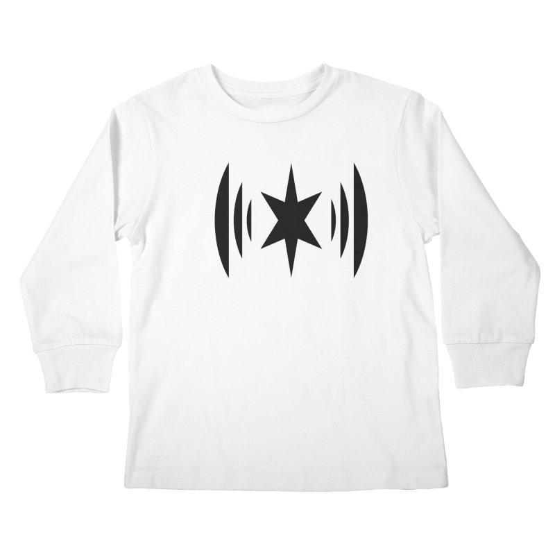 Chicago Music Black Logo Kids Longsleeve T-Shirt by Chicago Music's Artist Shop
