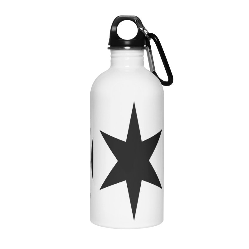 Chicago Music Black Logo Accessories Water Bottle by Chicago Music's Apparel and Retail Shop