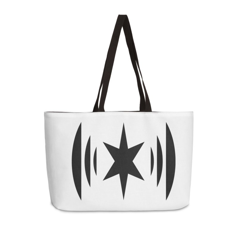 Chicago Music Black Logo Accessories Weekender Bag Bag by Chicago Music's Apparel and Retail Shop