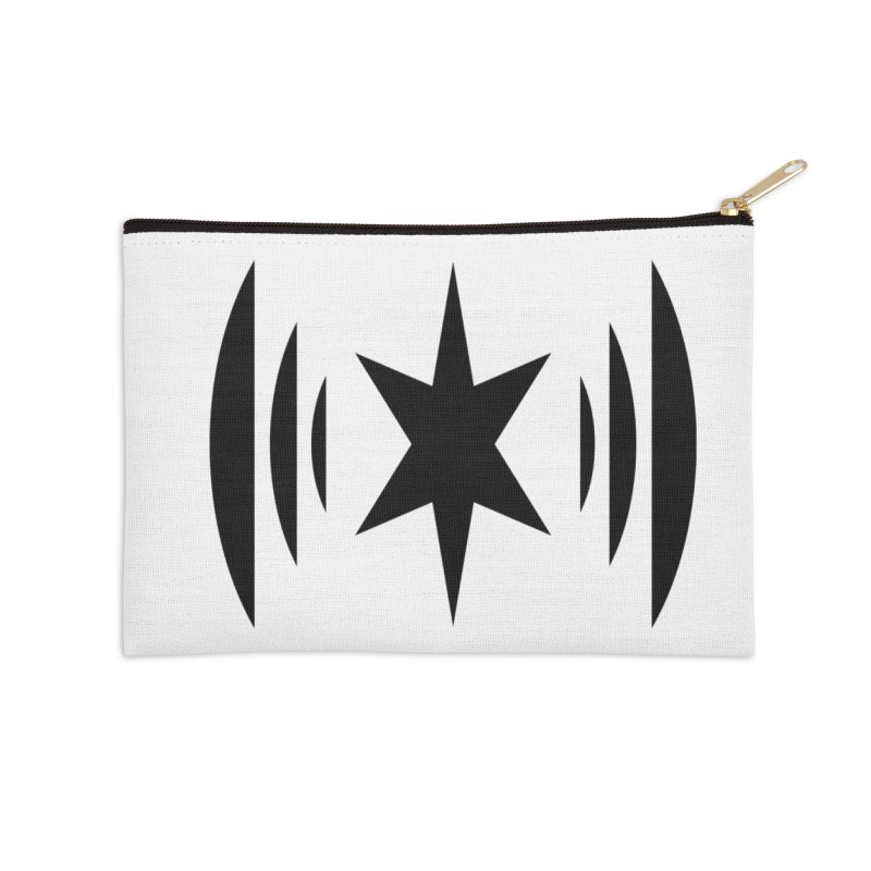 Chicago Music Black Logo Accessories Zip Pouch by Chicago Music's Apparel and Retail Shop
