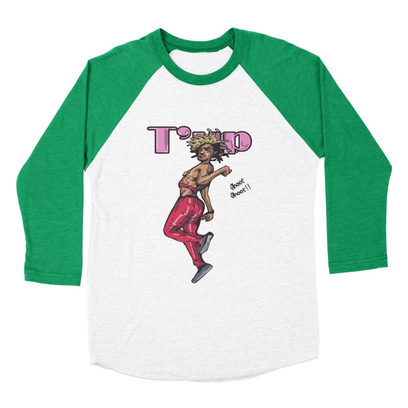 T' Up Shoot Shoot!! Women's Baseball Triblend Longsleeve T-Shirt by Chicago Music's Apparel and Retail Shop