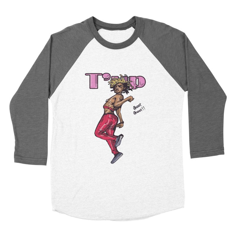 T' Up Shoot Shoot!! Men's Baseball Triblend Longsleeve T-Shirt by Chicago Music's Apparel and Retail Shop