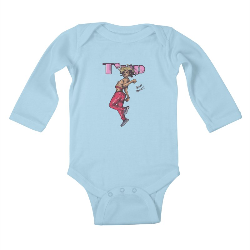T' Up Shoot Shoot!! Kids Baby Longsleeve Bodysuit by Chicago Music's Apparel and Retail Shop