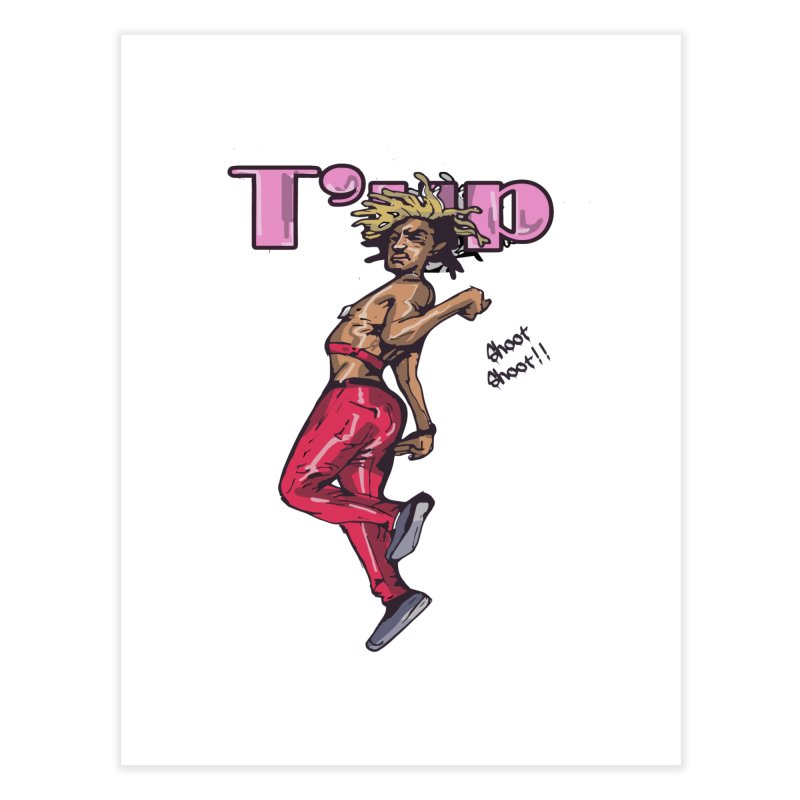 T' Up Shoot Shoot!! Home Fine Art Print by Chicago Music's Apparel and Retail Shop