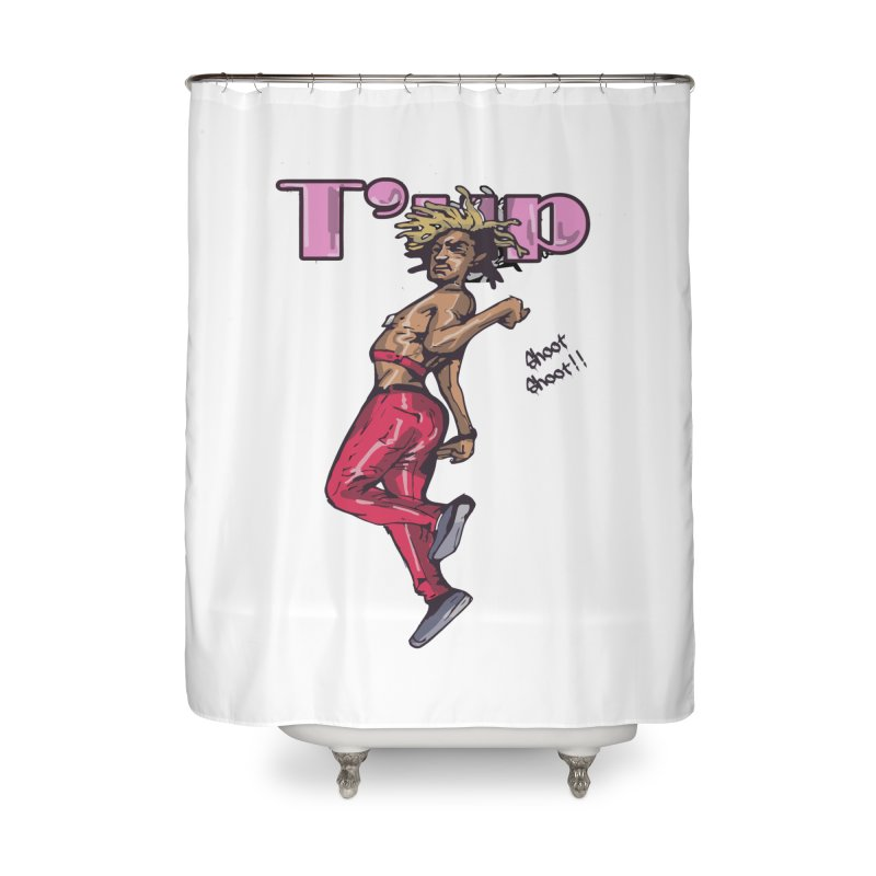 T' Up Shoot Shoot!! Home Shower Curtain by Chicago Music's Apparel and Retail Shop