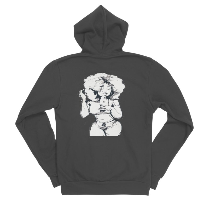 Lil Debbie Women's Sponge Fleece Zip-Up Hoody by Chicago Music's Apparel and Retail Shop