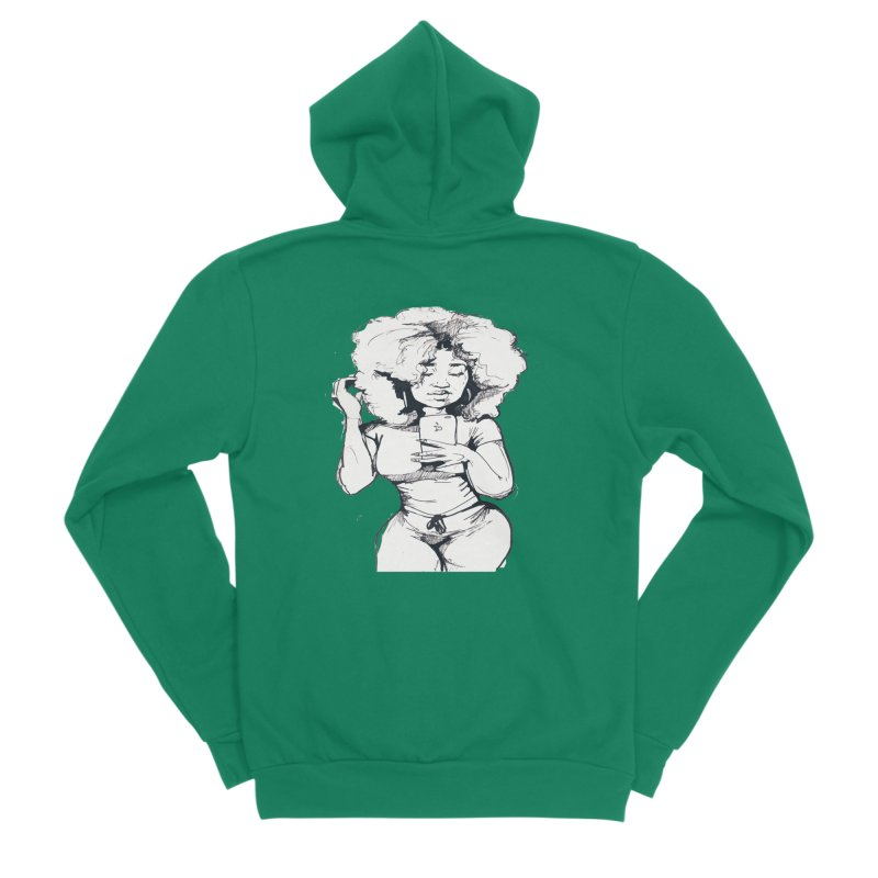 Lil Debbie Men's Sponge Fleece Zip-Up Hoody by Chicago Music's Apparel and Retail Shop
