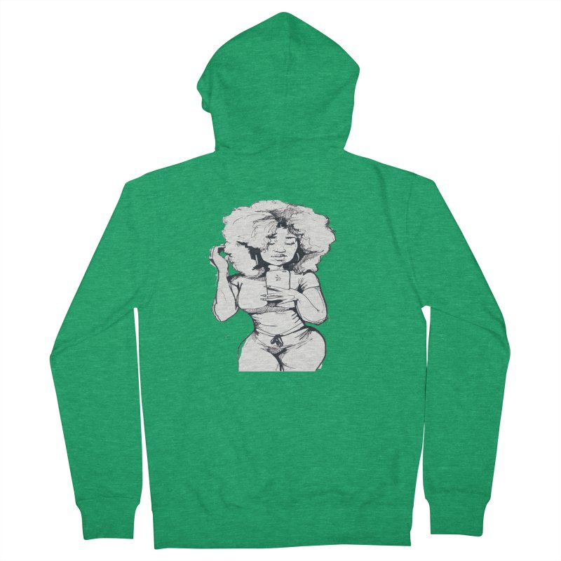 Lil Debbie Men's Zip-Up Hoody by Chicago Music's Apparel and Retail Shop