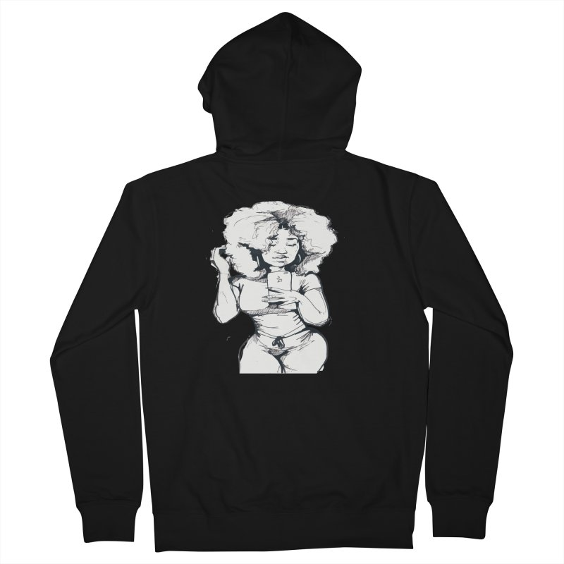 Lil Debbie Men's French Terry Zip-Up Hoody by Chicago Music's Apparel and Retail Shop
