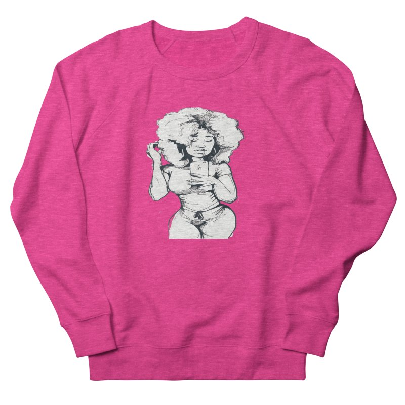 Lil Debbie Women's French Terry Sweatshirt by Chicago Music's Apparel and Retail Shop