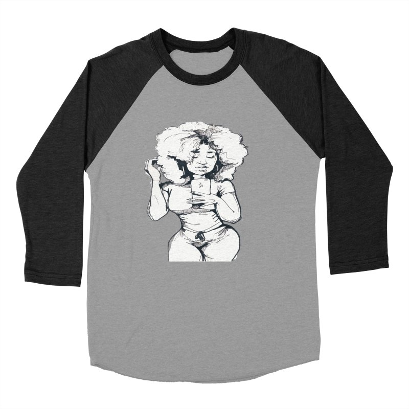 Lil Debbie Women's Baseball Triblend Longsleeve T-Shirt by Chicago Music's Apparel and Retail Shop