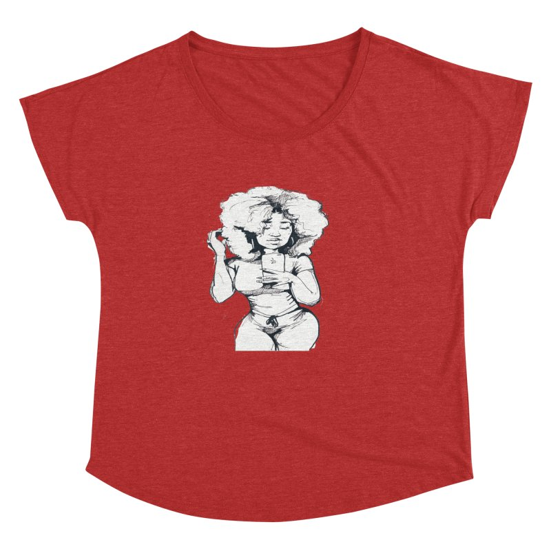 Lil Debbie Women's Dolman Scoop Neck by Chicago Music's Apparel and Retail Shop