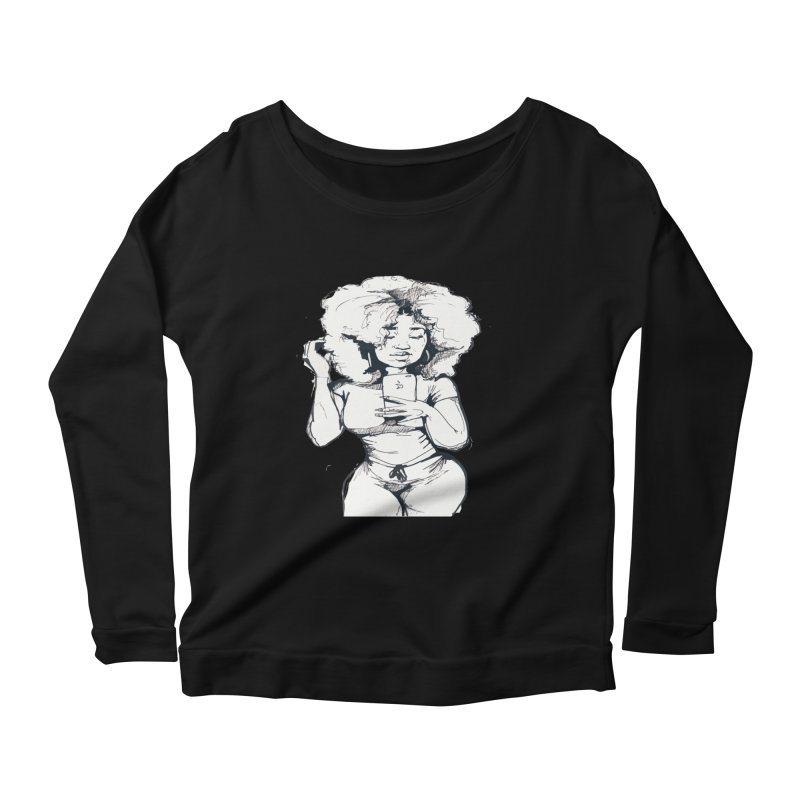 Lil Debbie Women's Scoop Neck Longsleeve T-Shirt by Chicago Music's Apparel and Retail Shop