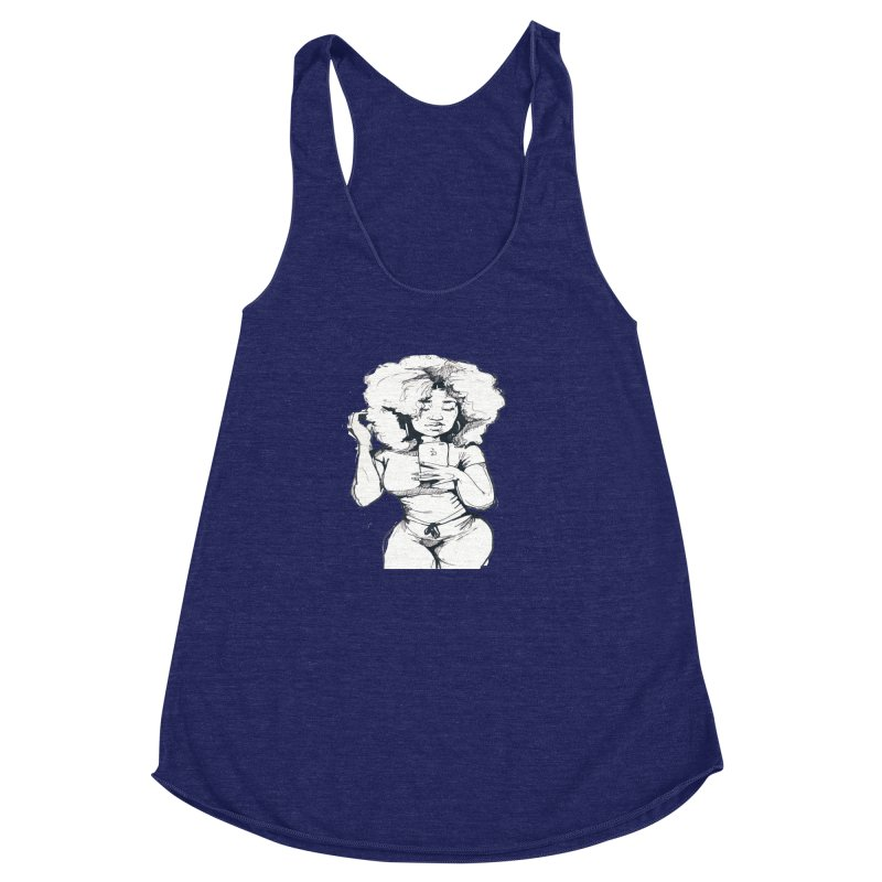 Lil Debbie Women's Racerback Triblend Tank by Chicago Music's Apparel and Retail Shop