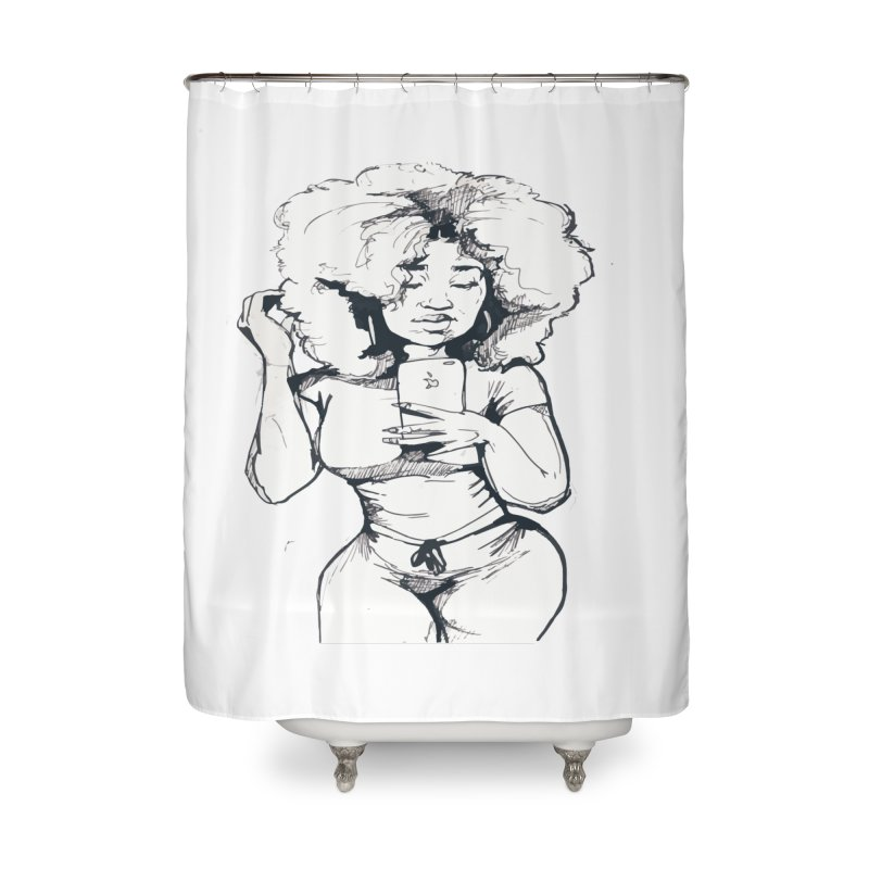 Lil Debbie Home Shower Curtain by Chicago Music's Apparel and Retail Shop