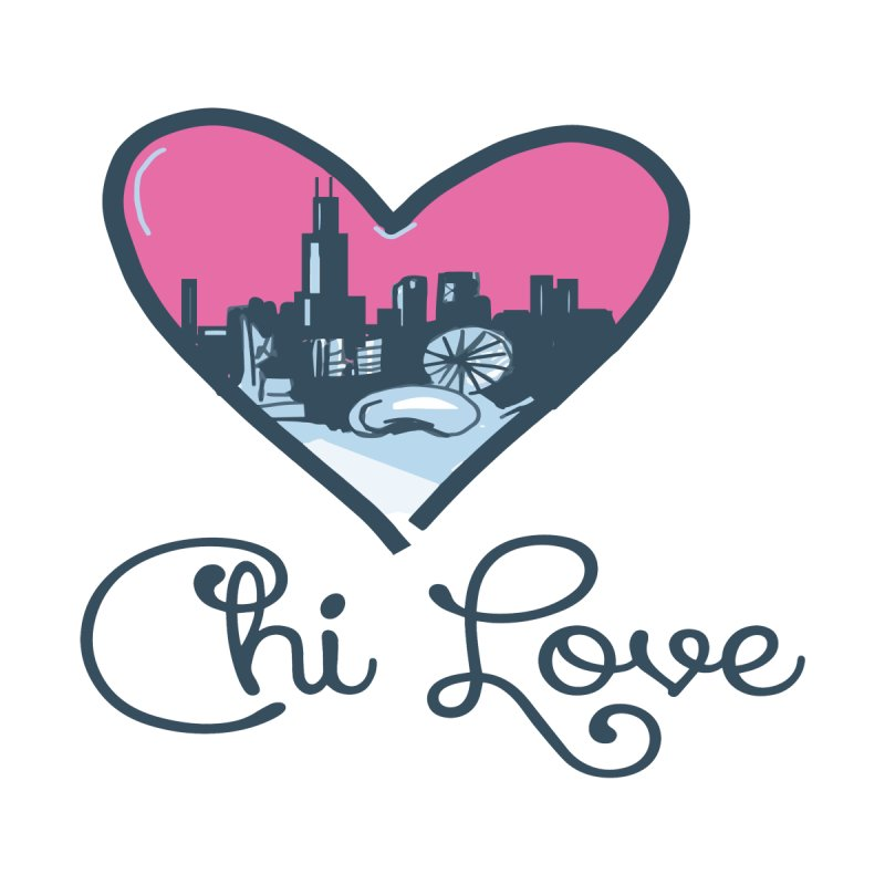 Chi Love Men's Sweatshirt by Chicago Music's Apparel and Retail Shop