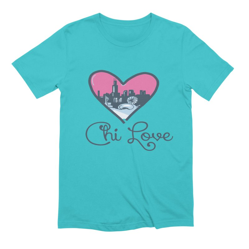 Chi Love Men's Extra Soft T-Shirt by Chicago Music's Apparel and Retail Shop