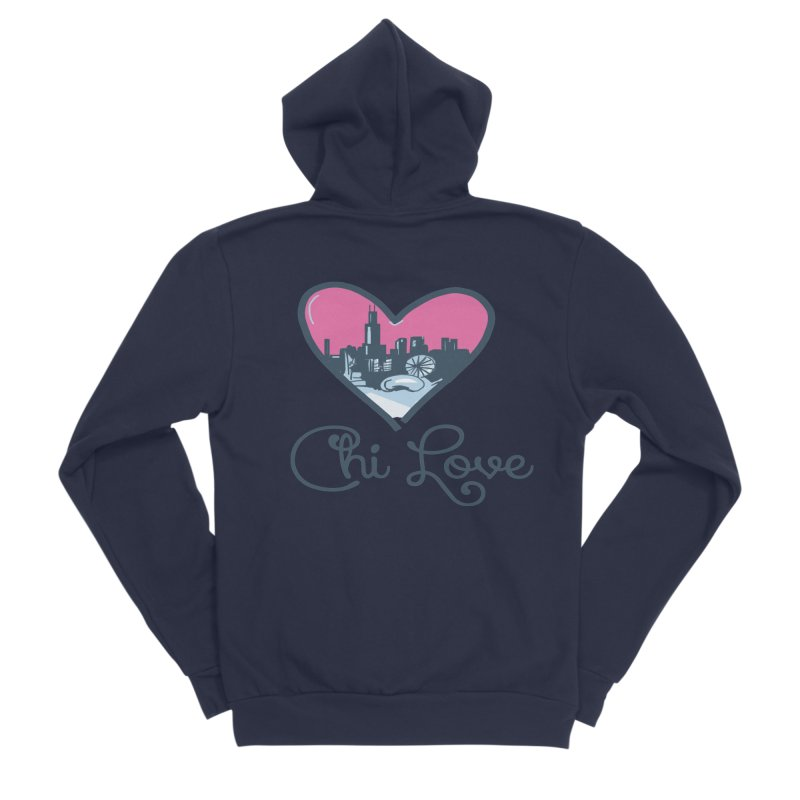 Chi Love Men's Sponge Fleece Zip-Up Hoody by Chicago Music's Apparel and Retail Shop