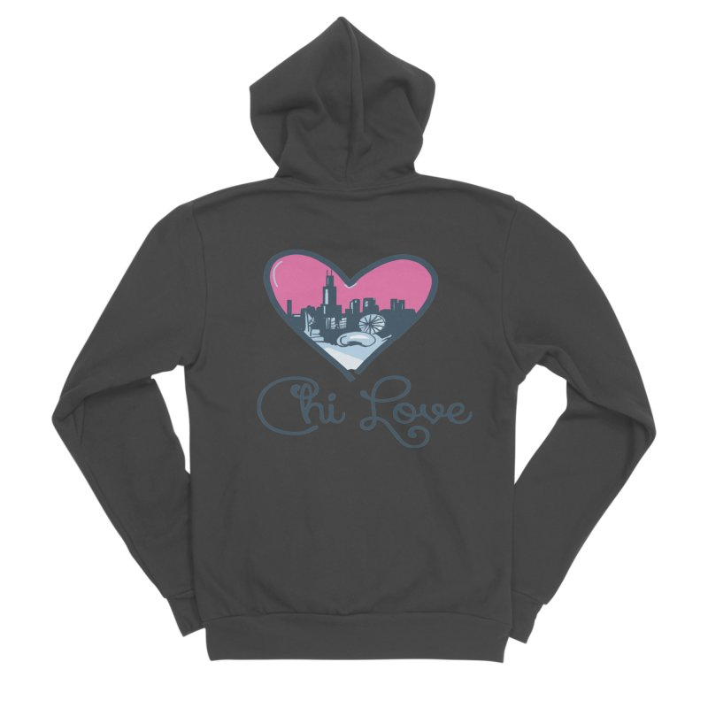 Chi Love Women's Sponge Fleece Zip-Up Hoody by Chicago Music's Apparel and Retail Shop