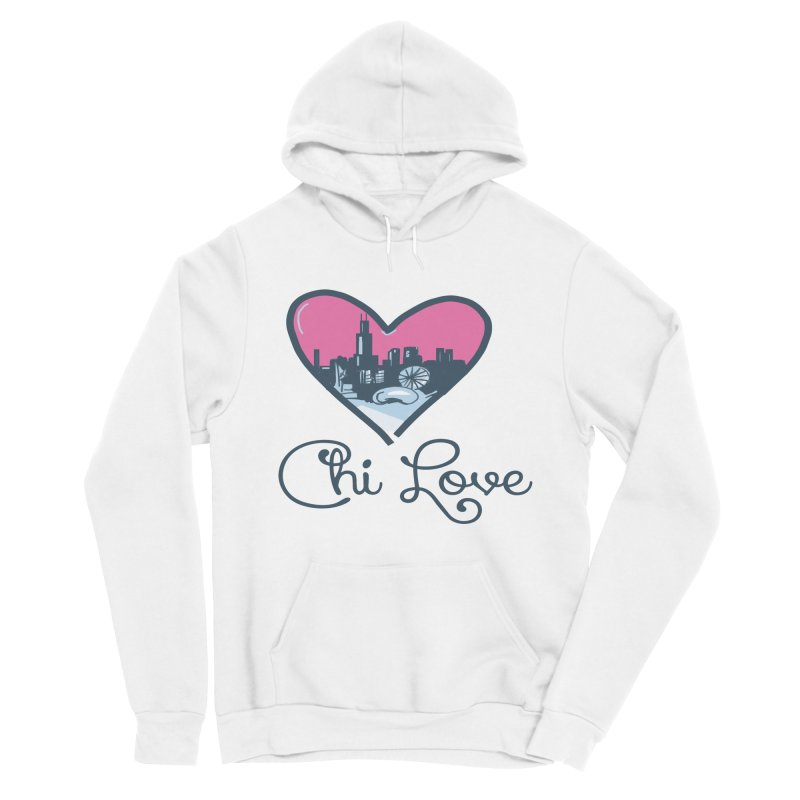 Chi Love Men's Sponge Fleece Pullover Hoody by Chicago Music's Apparel and Retail Shop