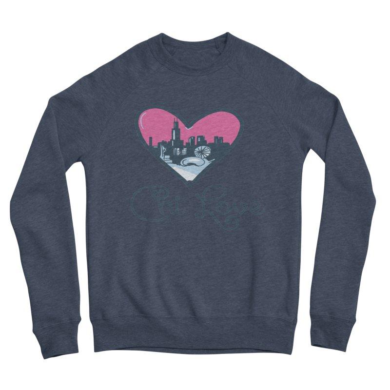 Chi Love Men's Sponge Fleece Sweatshirt by Chicago Music's Apparel and Retail Shop