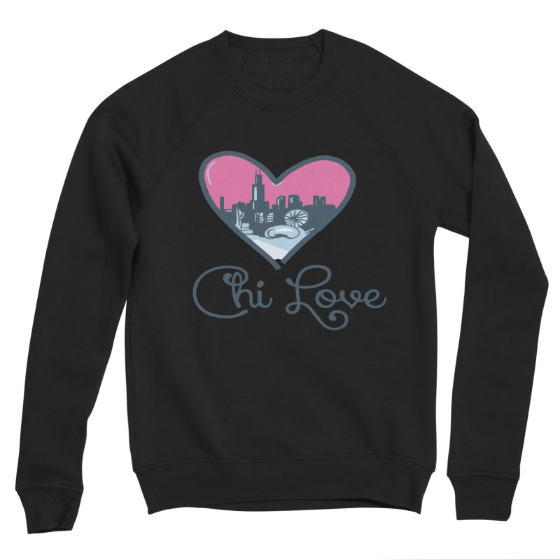 Chi Love Men's Sponge Fleece Sweatshirt by Chicago Music's Apparel and Retail Shop