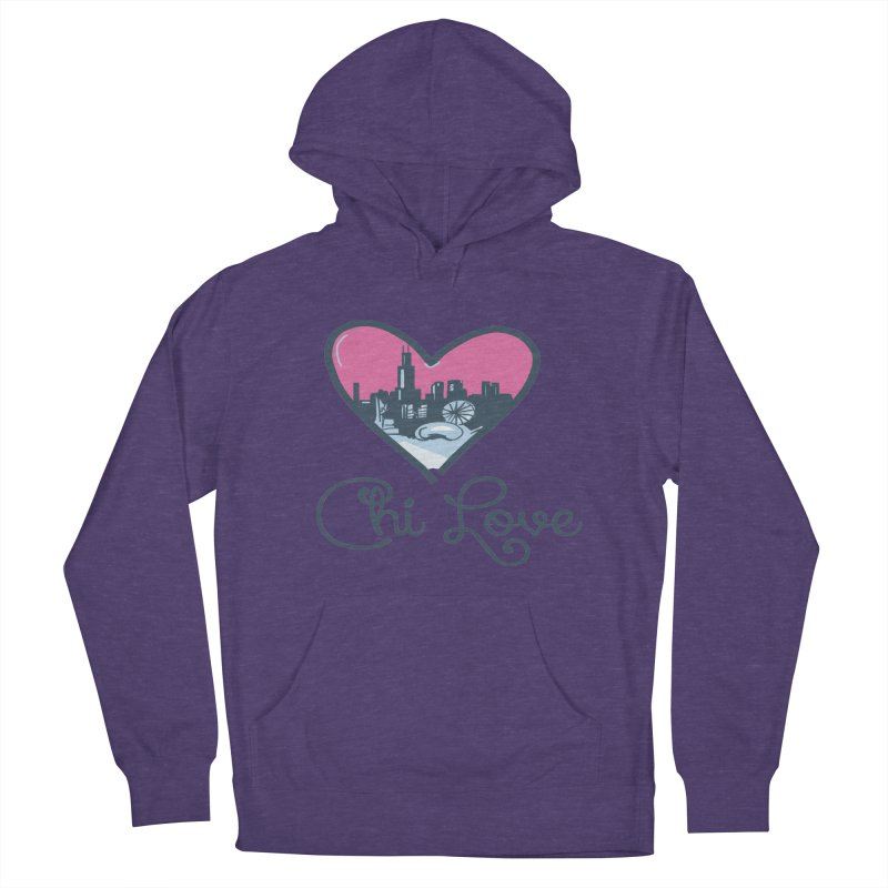 Chi Love Men's French Terry Pullover Hoody by Chicago Music's Apparel and Retail Shop