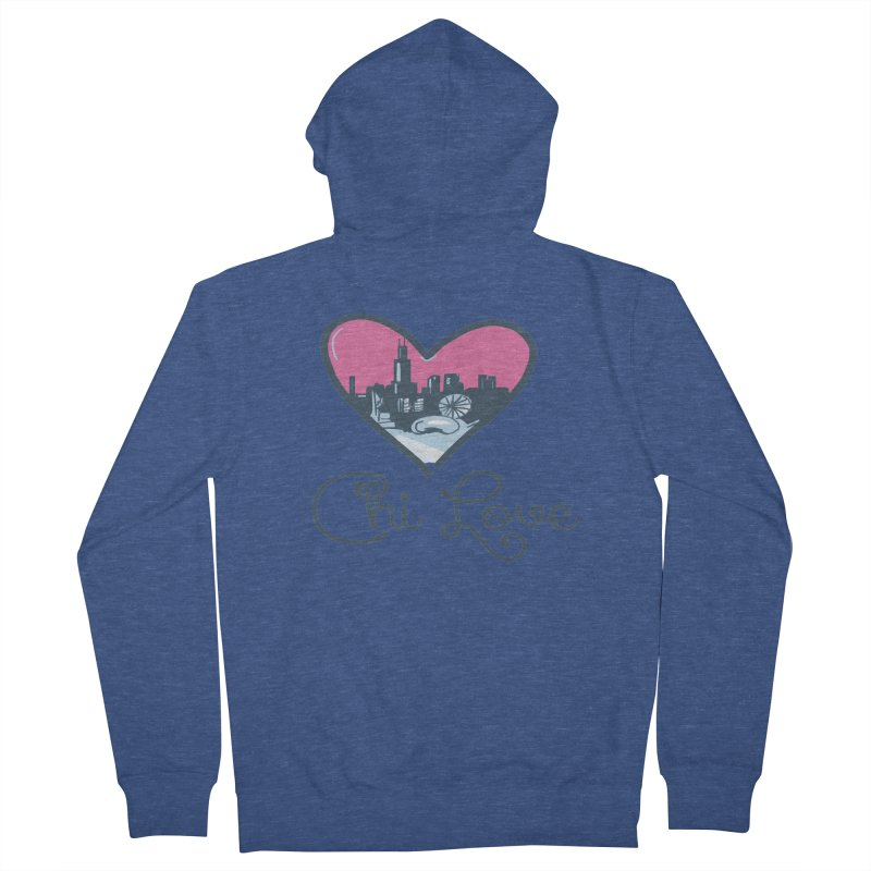 Chi Love Men's French Terry Zip-Up Hoody by Chicago Music's Apparel and Retail Shop