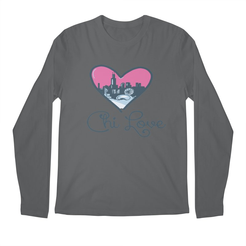 Chi Love Men's Longsleeve T-Shirt by Chicago Music's Apparel and Retail Shop