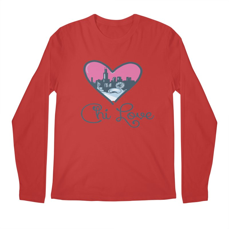 Chi Love Men's Regular Longsleeve T-Shirt by Chicago Music's Apparel and Retail Shop