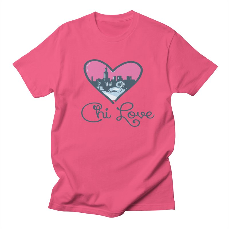 Chi Love Men's Regular T-Shirt by Chicago Music's Apparel and Retail Shop