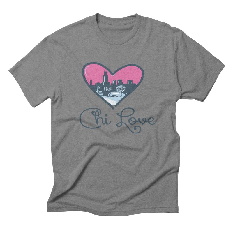 Chi Love Men's Triblend T-Shirt by Chicago Music's Apparel and Retail Shop