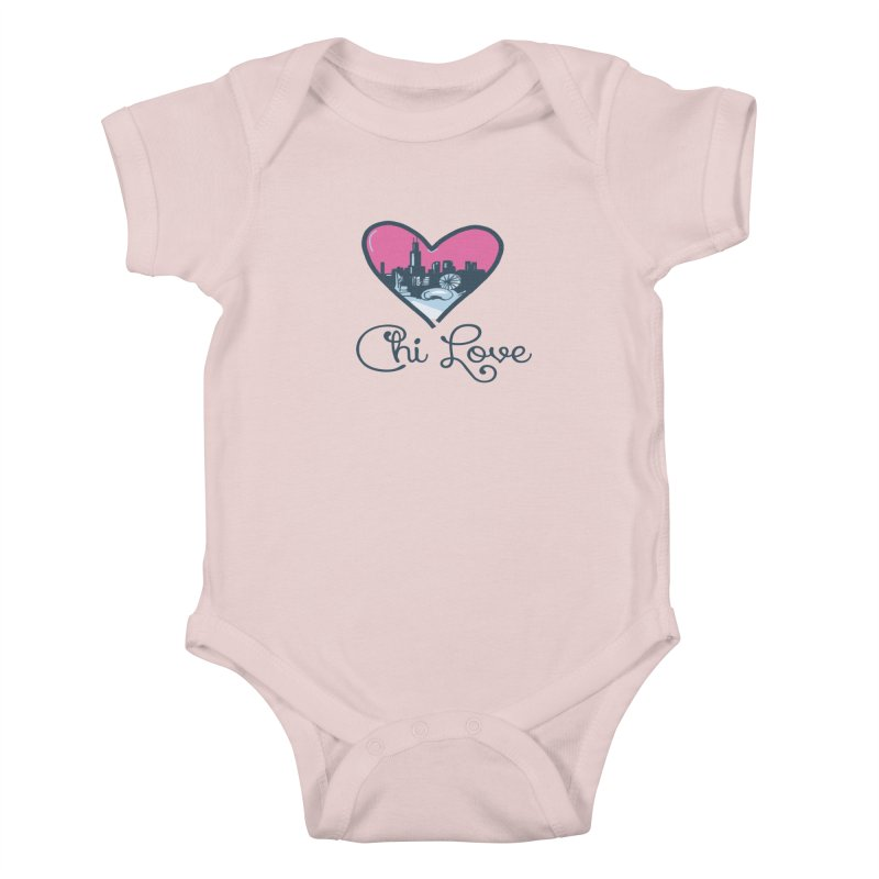 Chi Love Kids Baby Bodysuit by Chicago Music's Apparel and Retail Shop