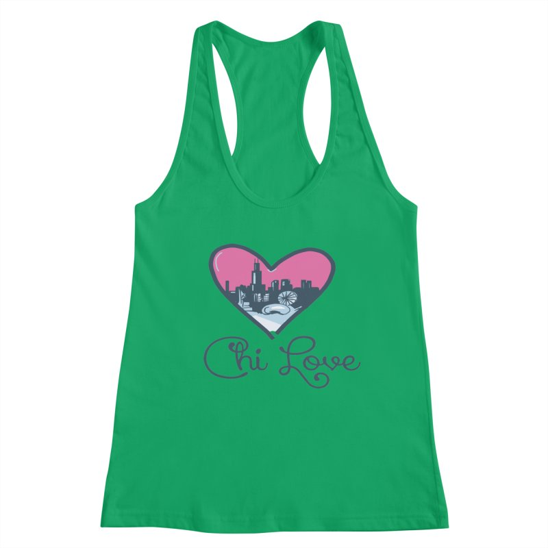 Chi Love Women's Tank by Chicago Music's Apparel and Retail Shop
