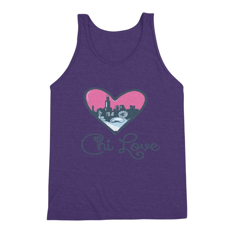 Chi Love Men's Tank by Chicago Music's Apparel and Retail Shop