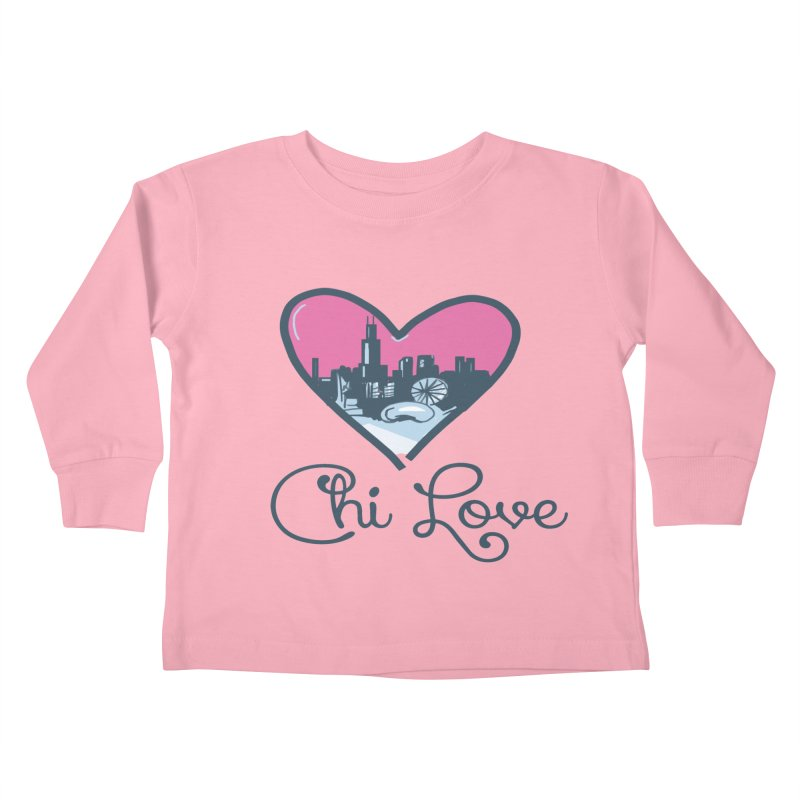 Chi Love Kids Toddler Longsleeve T-Shirt by Chicago Music's Apparel and Retail Shop