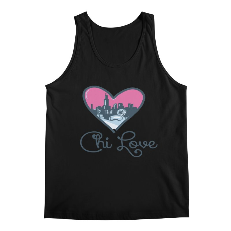 Chi Love Men's Regular Tank by Chicago Music's Apparel and Retail Shop