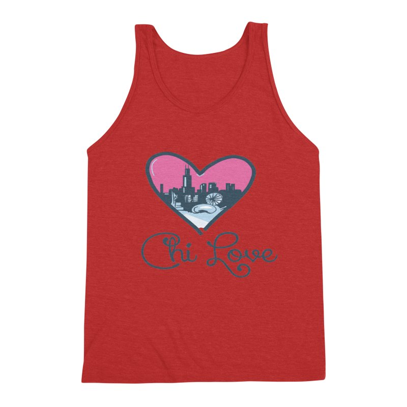 Chi Love Men's Triblend Tank by Chicago Music's Apparel and Retail Shop