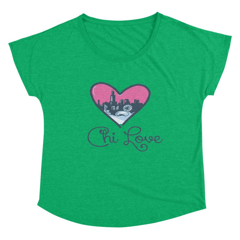 Chi Love Women's Scoop Neck by Chicago Music's Apparel and Retail Shop