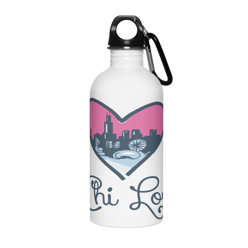 Chi Love Accessories Water Bottle by Chicago Music's Apparel and Retail Shop