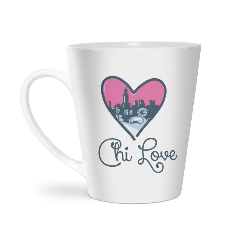 Chi Love Accessories Latte Mug by Chicago Music's Apparel and Retail Shop