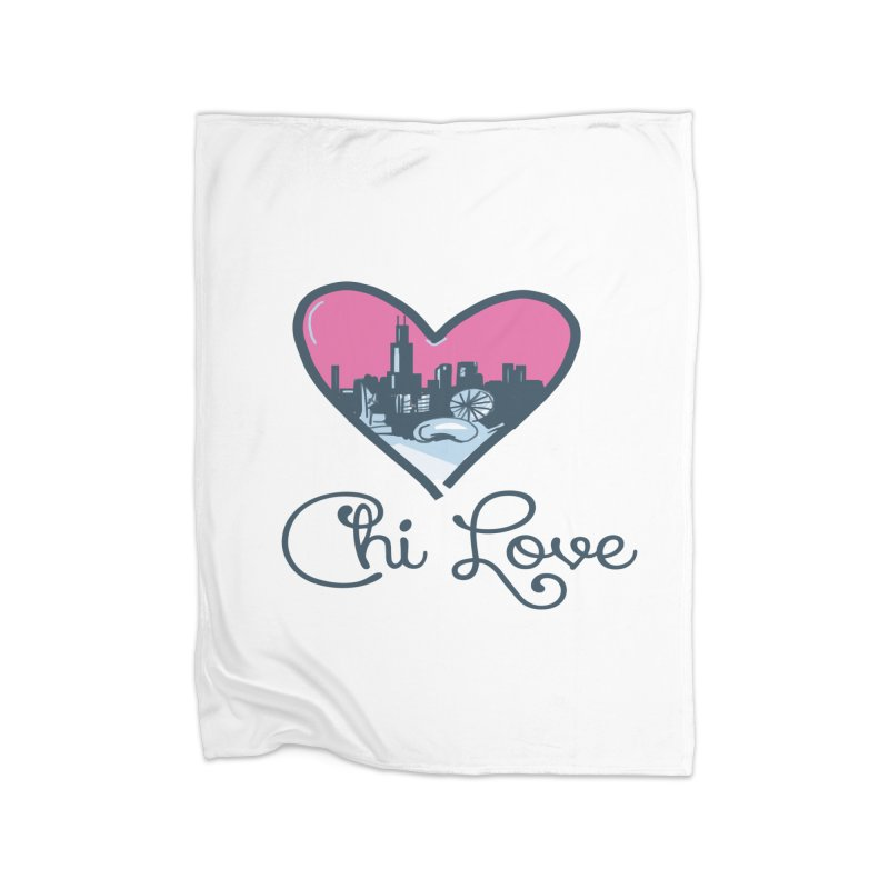 Chi Love Home Fleece Blanket Blanket by Chicago Music's Apparel and Retail Shop