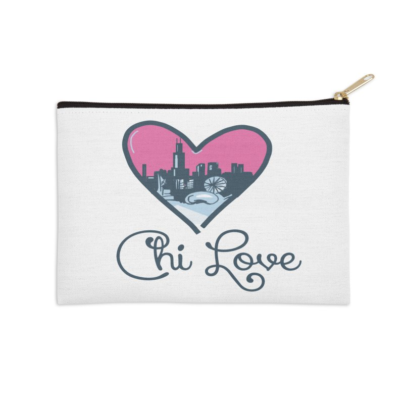 Chi Love Accessories Zip Pouch by Chicago Music's Apparel and Retail Shop