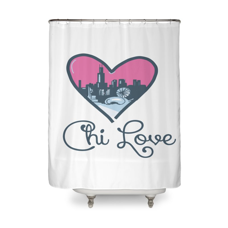 Chi Love Home Shower Curtain by Chicago Music's Apparel and Retail Shop