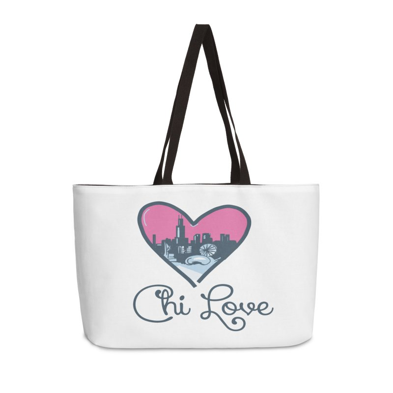 Chi Love Accessories Weekender Bag Bag by Chicago Music's Apparel and Retail Shop