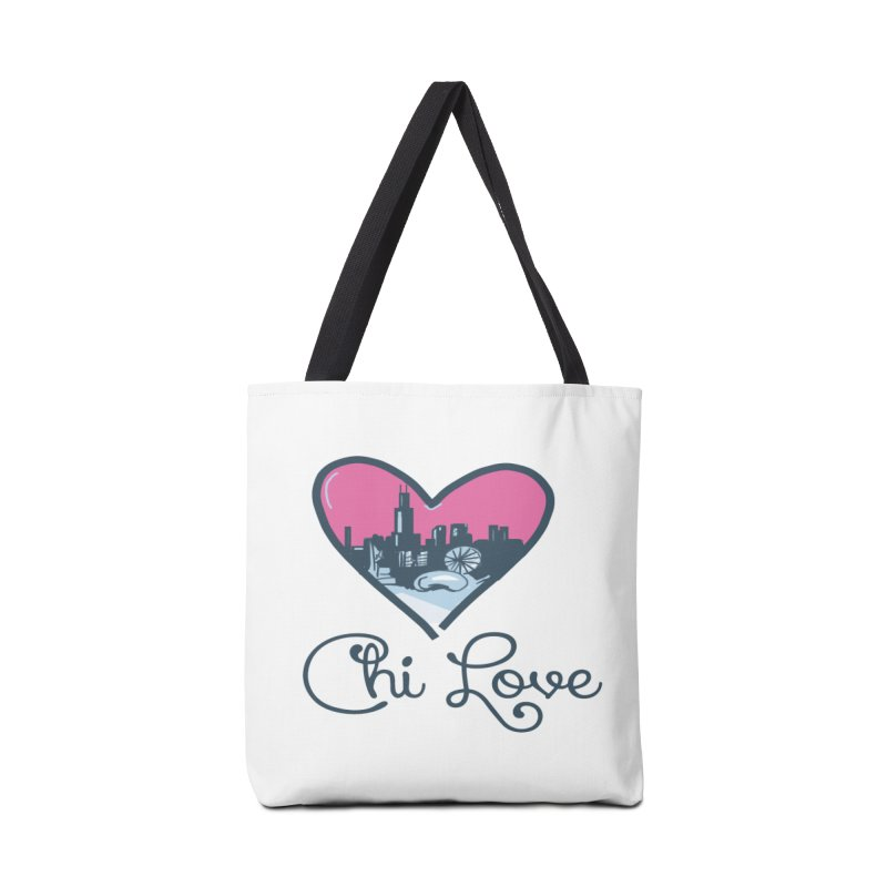 Chi Love Accessories Tote Bag Bag by Chicago Music's Apparel and Retail Shop