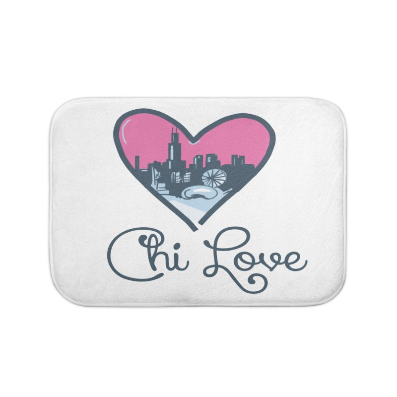 Chi Love Home Bath Mat by Chicago Music's Apparel and Retail Shop