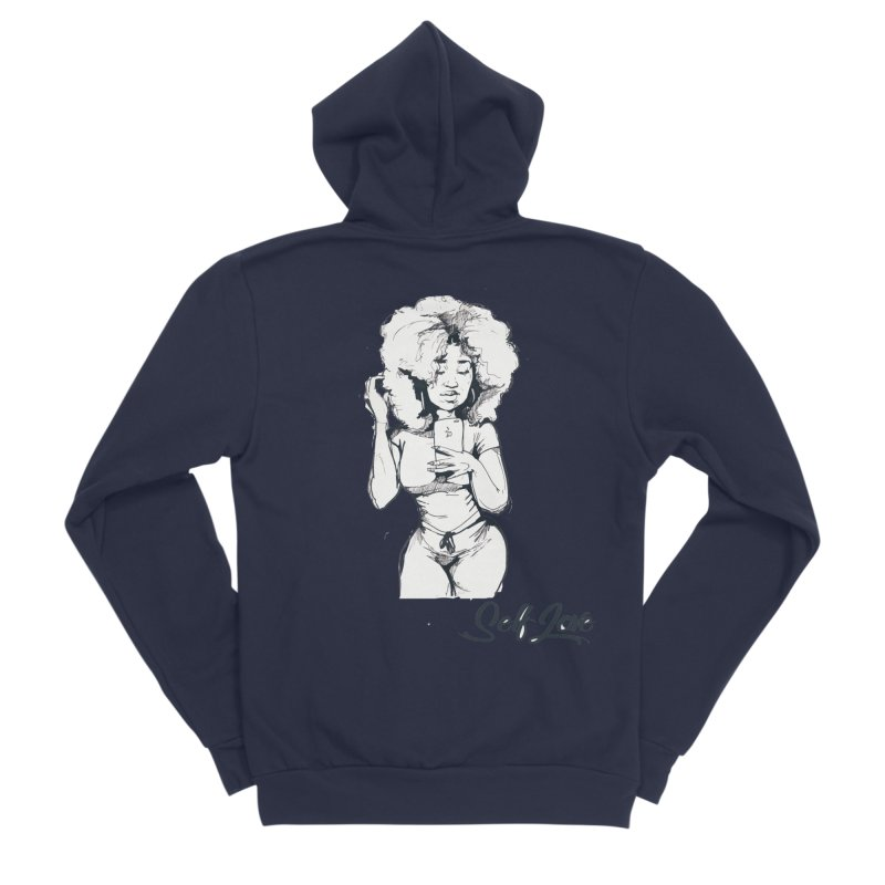 Lil Debbie Self Love Women's Sponge Fleece Zip-Up Hoody by Chicago Music's Apparel and Retail Shop