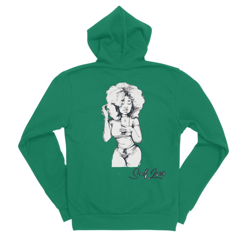 Lil Debbie Self Love Women's Zip-Up Hoody by Chicago Music's Apparel and Retail Shop