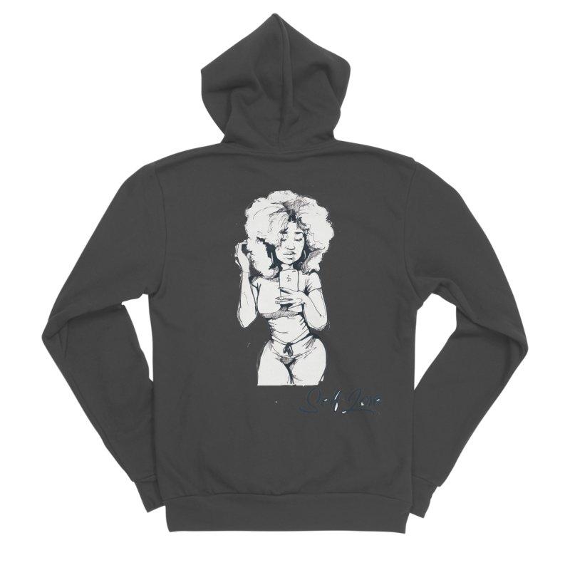 Lil Debbie Self Love Men's Sponge Fleece Zip-Up Hoody by Chicago Music's Apparel and Retail Shop